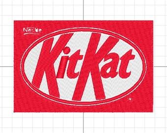 kitkat machine embroidery logo