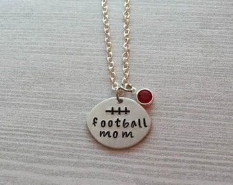 Football Shaped Football Mom Necklace