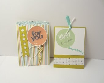 Striped Birthday Balloon Bag Card
