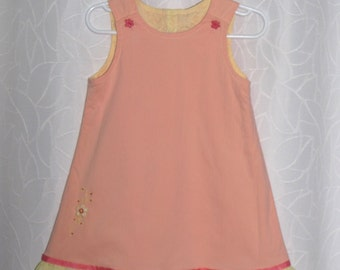 Peach reversible dress