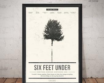 SIX FEET UNDER Poster - Alan Ball - Unique Retro Poster - Print, Wall Art