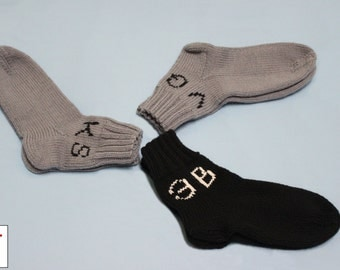 Hand Knitted Socks for Men, Home socks, Men socks, Customization, FOR ORDER only