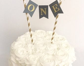 1st Birthday Cake Topper ~Black and Gold First Birthday ~ Twinkle Twinkle Chalkboard Cake Topper~ Smash Cake Topper ~ Black and Gold