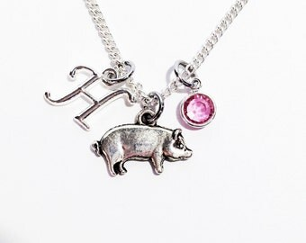 Pig Jewelry, Pig Necklace, Pig Gifts, Pig Farmer, Farmer Jewelry, Pig Lover Gifts, Pig Gifts for Women, Mothers Day Gift For Her, Pig Charm
