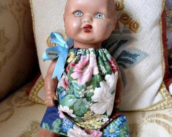 Vintage Composition Pot Doll