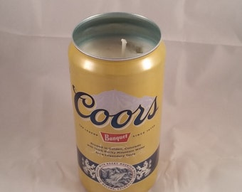 Coors Banquet Can Candle, YOU PICK SCENT! No Sharp Edges! Maine made