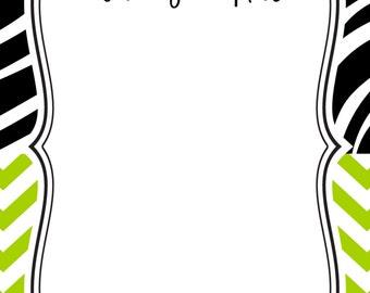 Zebra Note Pad