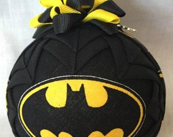 BATMAN QUILTED ORNAMENT Made From Batman Fabric,Batman,Dark Knight,Batman Decor,Batman Ornaments,Batman Handmade,Batman Christmas,Joker