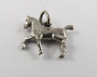 Prancing Pony Sterling Silver Charm or Pendant.