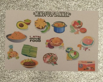 Latin-Spanish Food Planner Stickers
