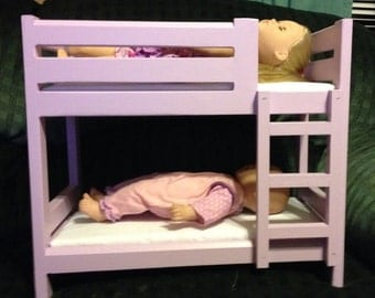 american girl bunk bed doll bunk bed etsy 11830