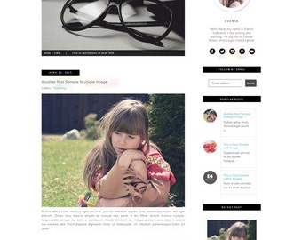 Watercolor Responsive Blogger Template - Blogspot Premade blogger Template - Feminine Clean Design - lifestyle blog - Pretty Blogspot Theme