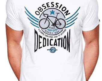 Bike Obsession (White) - Cycology Men's Cycling T Shirt