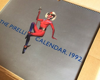 Vintage The Pirelli Calendar 1992 in original box, calendar collectibles, erotic, photo, horoscope, chinese horoscope