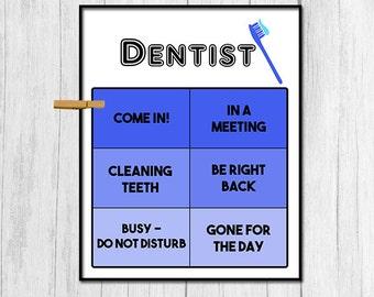 Dentist Gift Dentist Door Sign Digital Download Office Decor Teeth Cleaning Sign Office Door Sign Gift for Dentist Instant Download Sign