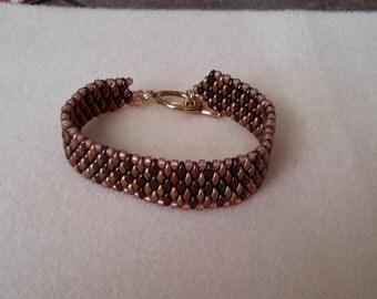 Bronze super duo bracelet