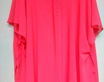 Plus size Evening Tunic Top - XL 3/4 Sleeved Tunic-Kimono-  Women plus size Clothing - Maternity Tunic Top