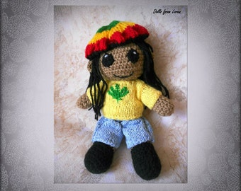 Rastafarian Crochet Doll Portrait Doll Personalized gift MADE TO ORDER