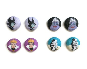 Villain Earrings Disney Inspired Maleficent Earrings Ursula Earrings Evil Queen Earrings Cruella Deville Earrings