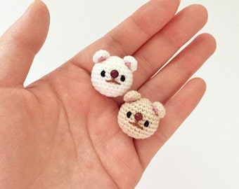 Dog, Puppy (Jindo) - Crochet Animal Brooch, Corsage, Accessory, Amigurumi