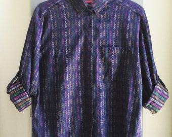 80's Indian Cotton Shirt // South Western Shirt // Vintage Navajo shirt