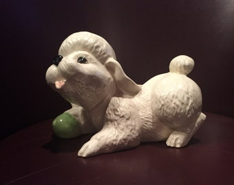 Adorable Vintage Ceramic Poodle