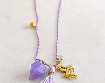Purple Unicorn Charm Pendant Necklace