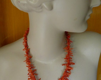 Genuine red coral necklace branches of coral coral necklace