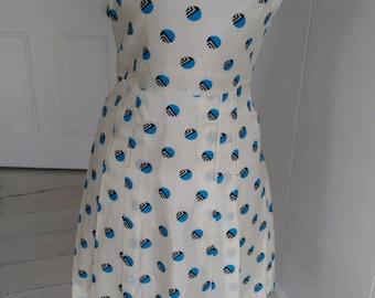 A 70's polka dot summer dress