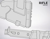 ReCore Rifle - blueprint 1:1 scale