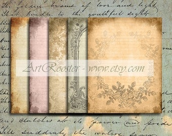 Digital Scrapbook Paper Writing Paper Letter Paper Printable Stationary Paper Letter Stationary Digital Paper Shabby Chic Digital Collage