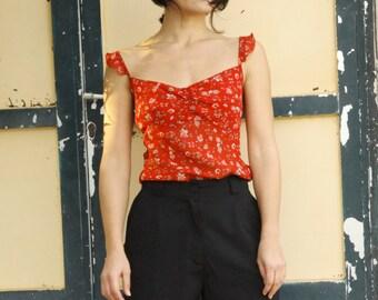 Black vintage cotton shorts.size 48 (s)