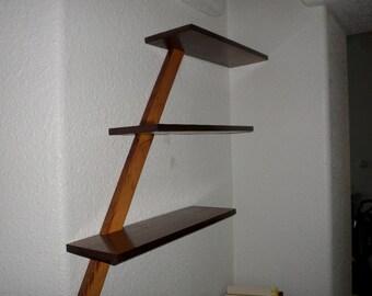 Reclaimed wood shelf, cedar shelf, barn wood shelf, rustic shelf, rescued, shelf