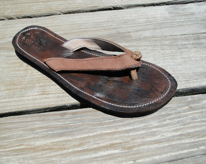 Men's Genuine Leather Hand Crafted Sandals from Honduras