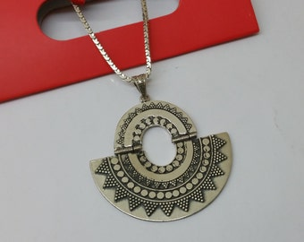 Indian jewelry pendant silver handmade SK774