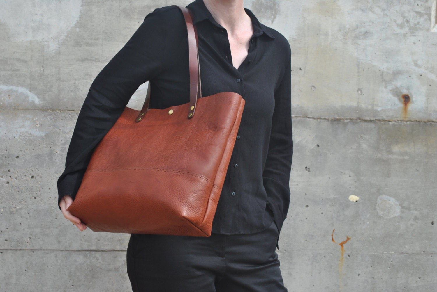 Italian Leather Shoulder Bag Italian Leather Laptop Bag