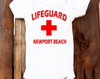 Personalized Lifeguard Beach Onesie Bodysuit