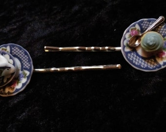 Tea and Cake Bobby Pin Set