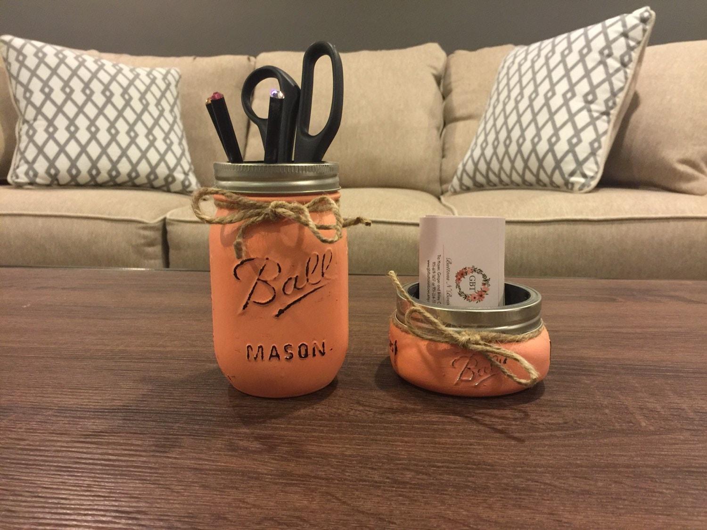 rustic office decor mason jar desk decor mason jar