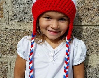 Blue, white and Red Tuque on command