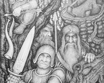 "The Ambush - Art Print - 10"" x 13"" Offset Print By John Longendorfer, Medieval Art, Fantasy Art, Art Print, Medieval Print, Fantasy Print"