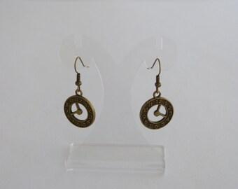 Bronze dial, earrings