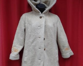 20% OFF !!!!  vintage Heller Sport winter wear overcoat hoodie - women's small or petite medium