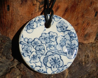 Japanese Flower Patterened  Necklace,