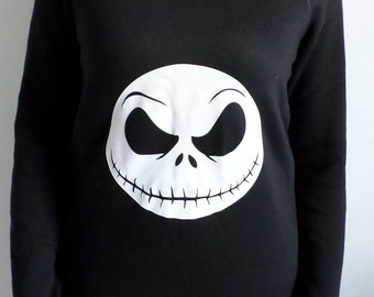 Jack Skellington Nightmare Before Christmas slouch style womens jumper