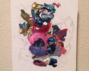 Small orginal mixed media painting