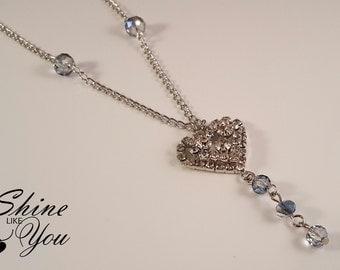 Sparkling Heart Pendant Necklace