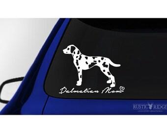 Dalmatian Mom, Dalmatian Dog Window Decal Sticker