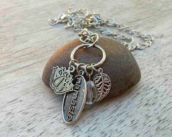 Namaste Lotus Charm Necklace