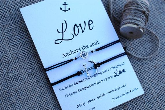 Ancrage bracelet argent love ancre ancre l me souhaitant - Bracelet couple ancre ...